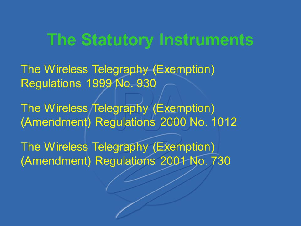 The Statutory Instruments