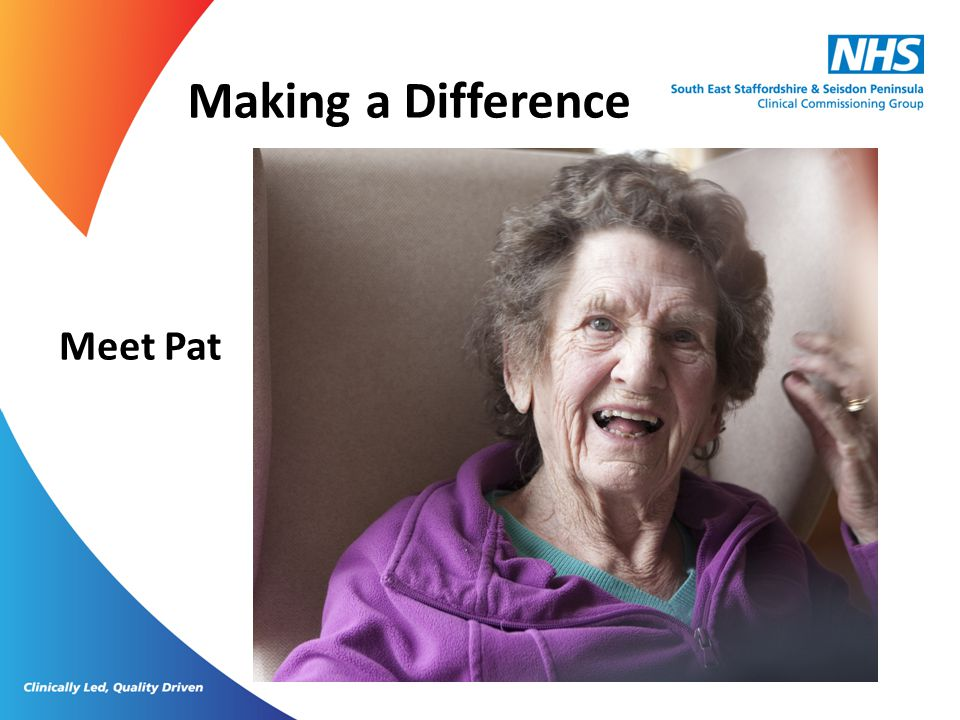 Making a Difference Meet Pat