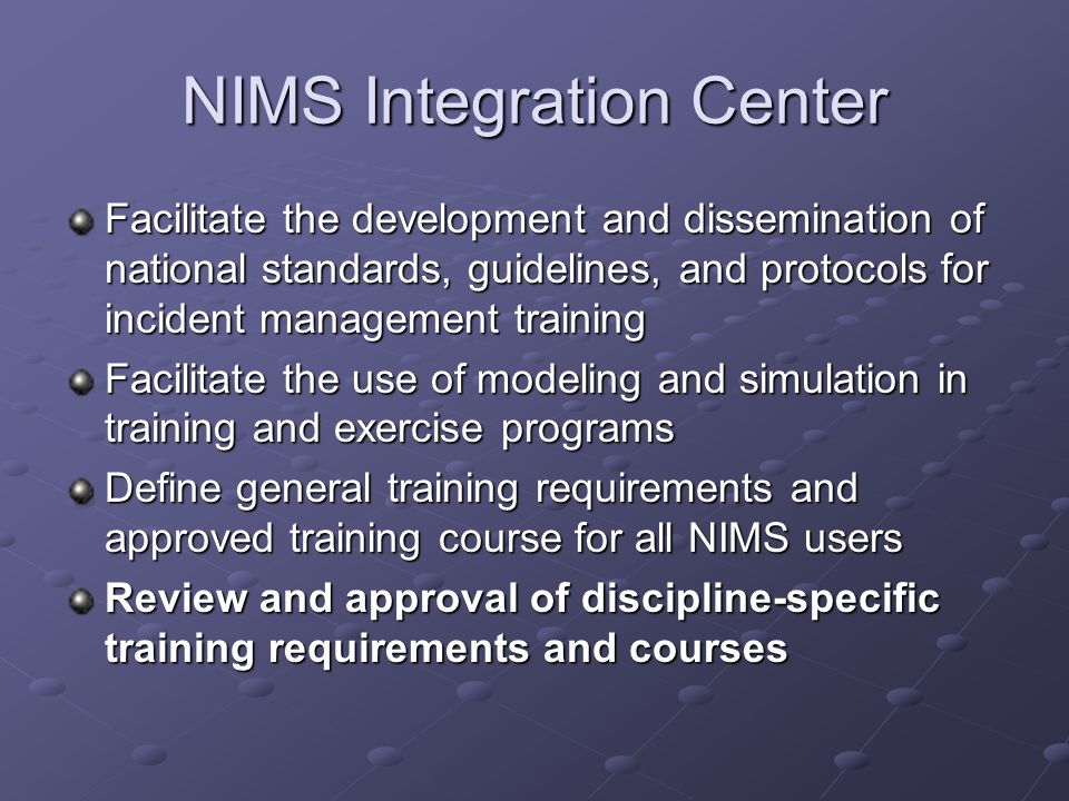 NIMS Integration Center
