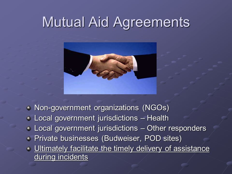 Mutual Aid Agreements Non-government organizations (NGOs)