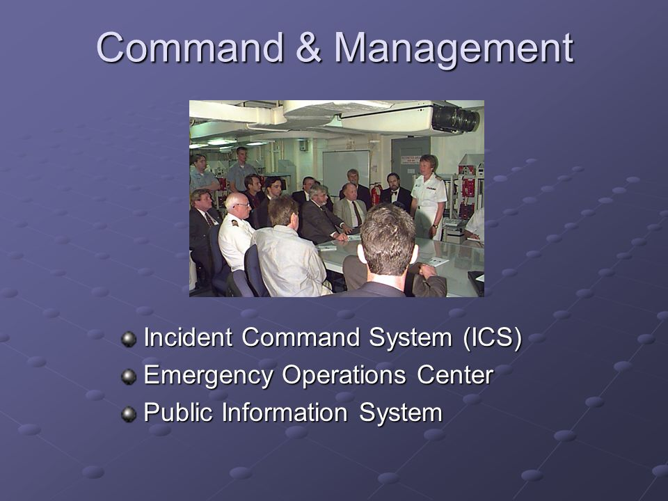 Command & Management Incident Command System (ICS)