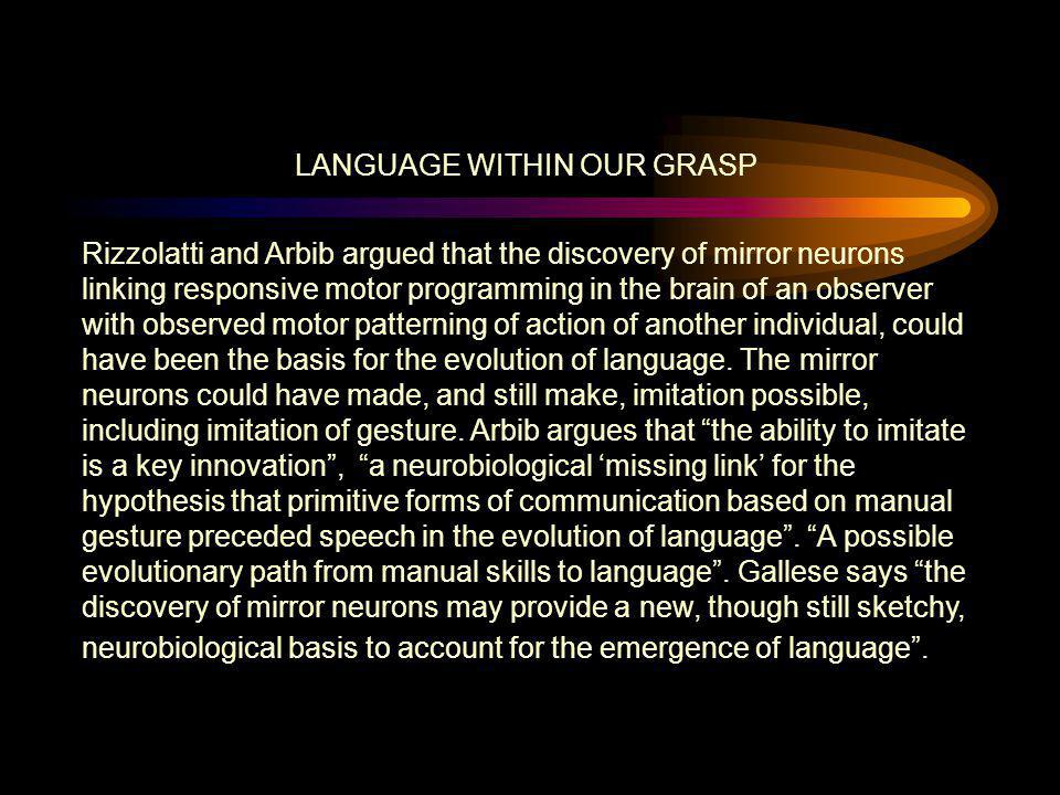 LANGUAGE WITHIN OUR GRASP