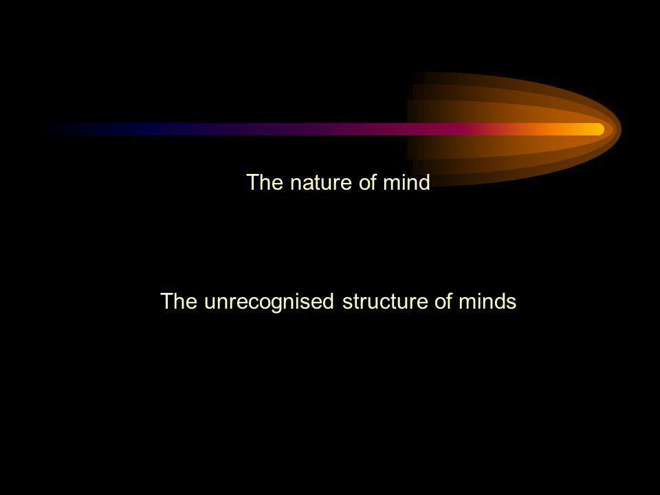 The unrecognised structure of minds