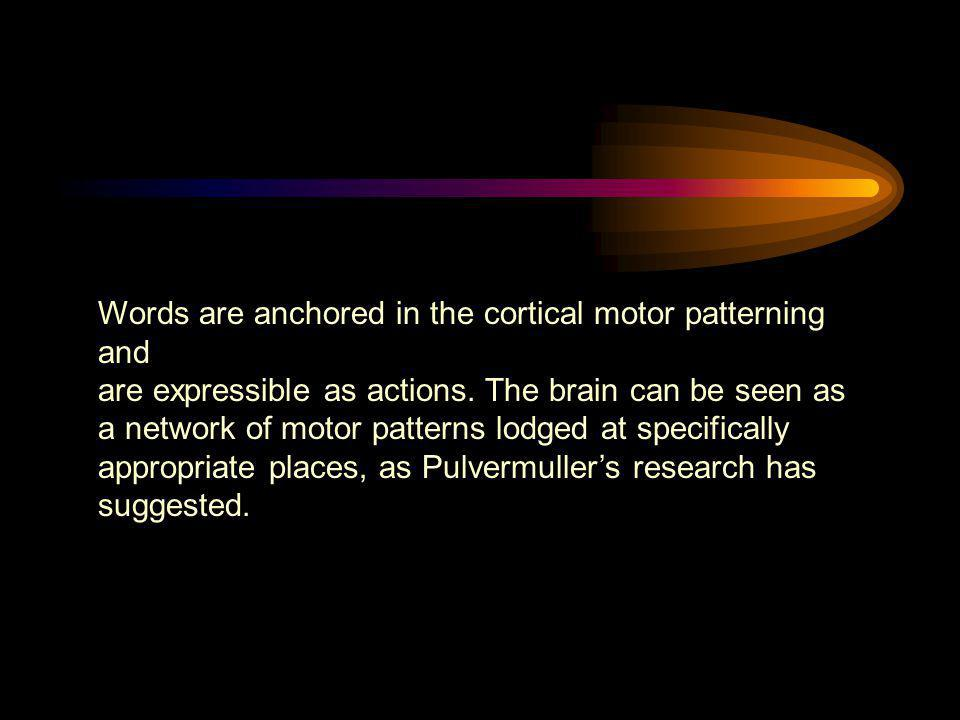 Words are anchored in the cortical motor patterning and