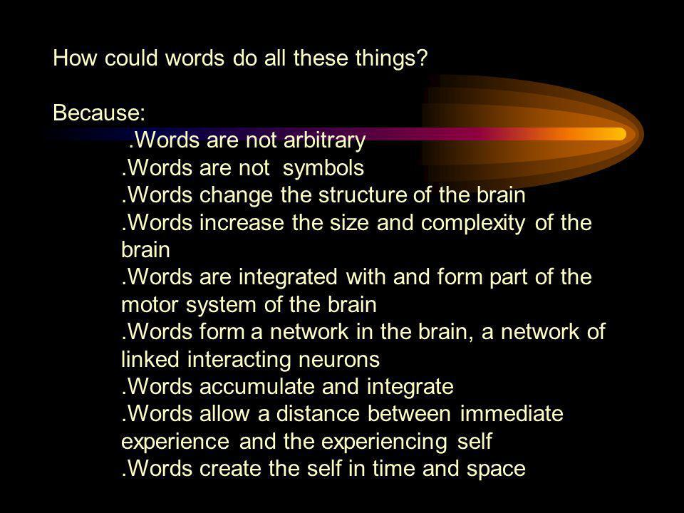 How could words do all these things
