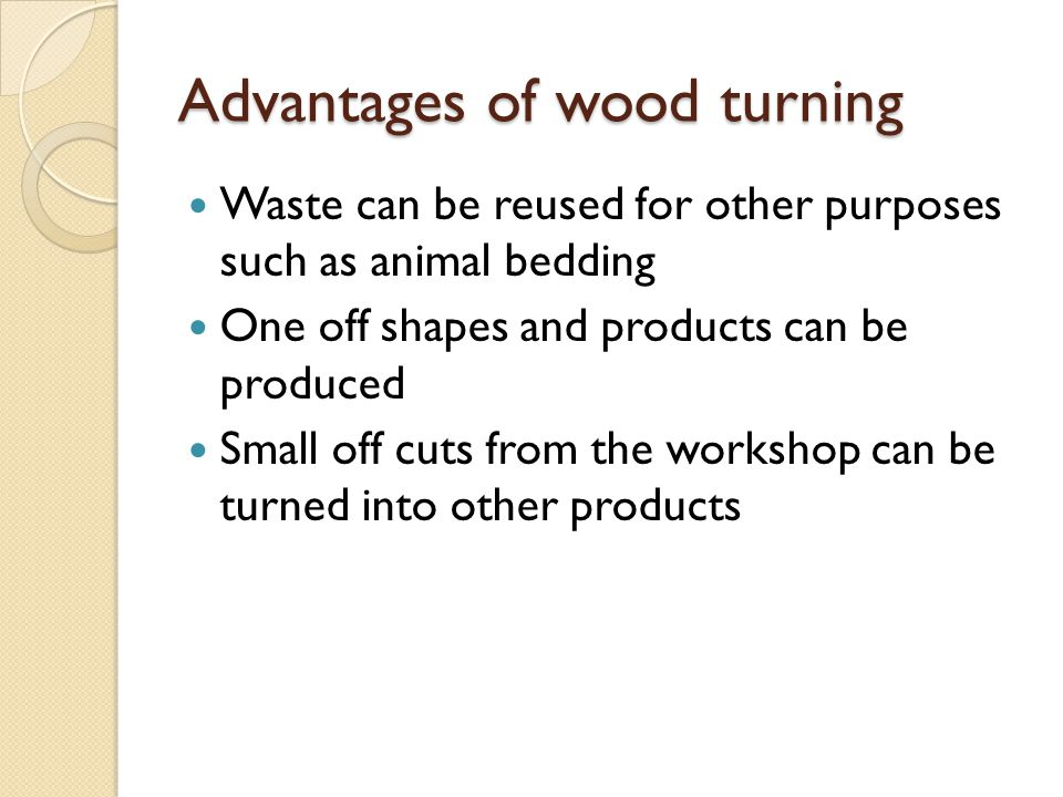 Advantages of wood turning
