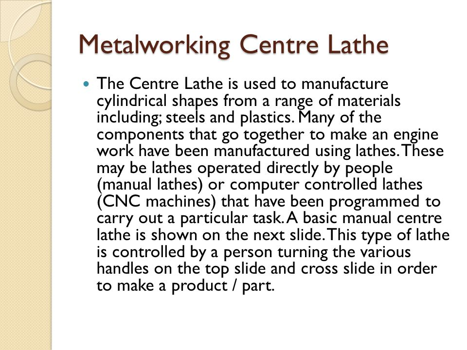Metalworking Centre Lathe