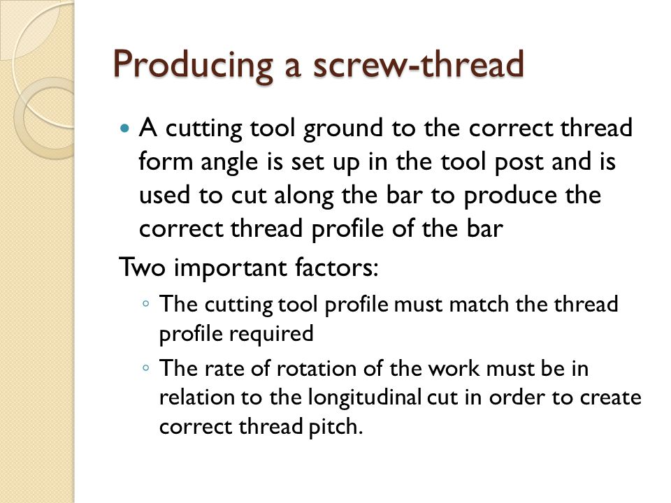 Producing a screw-thread