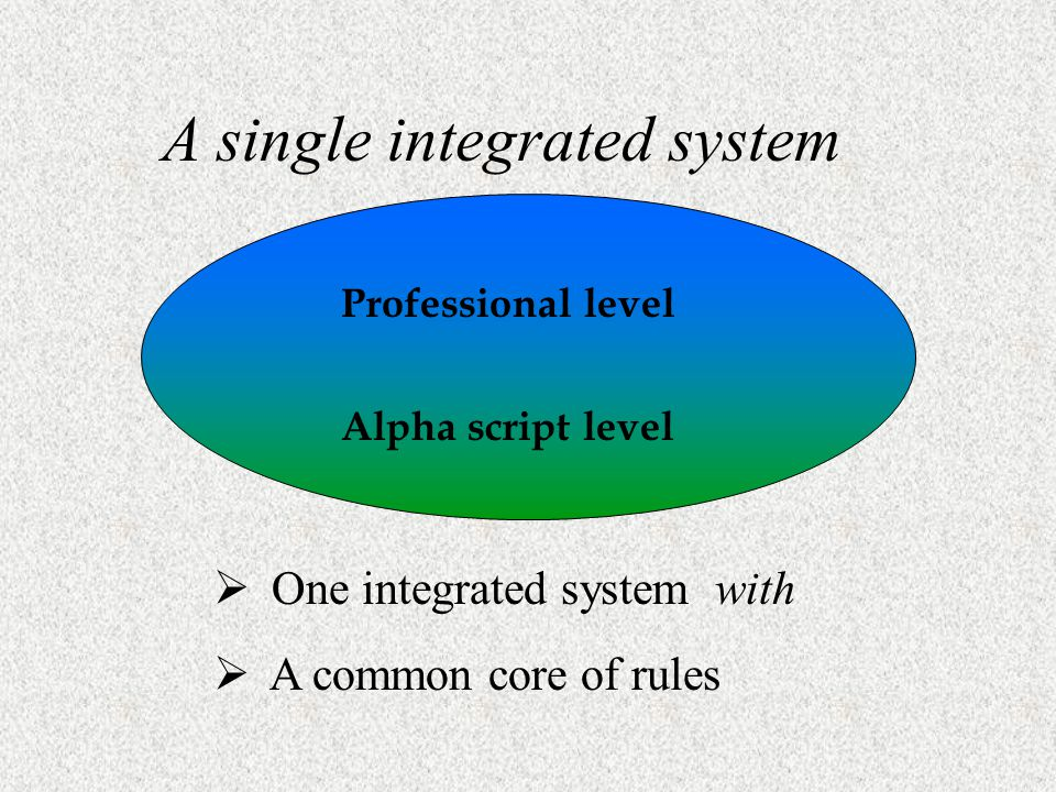 A single integrated system