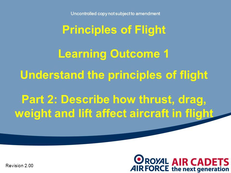 Understand the principles of flight