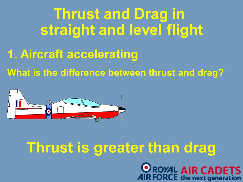 Thrust and Drag in straight and level flight
