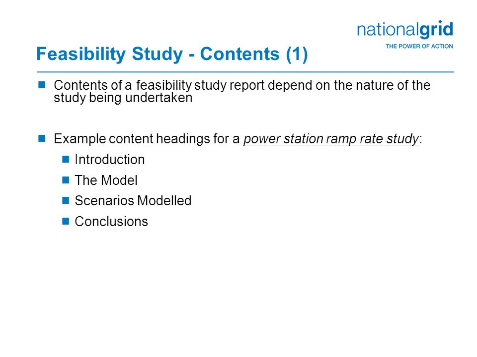 Feasibility Study - Contents (1)