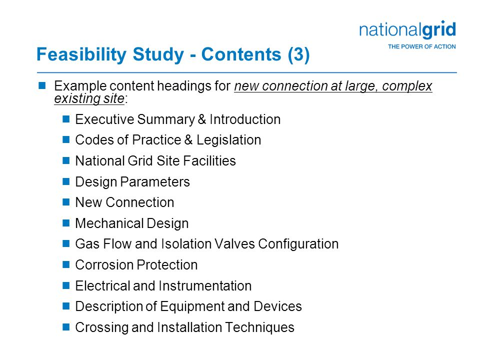 Feasibility Study - Contents (3)
