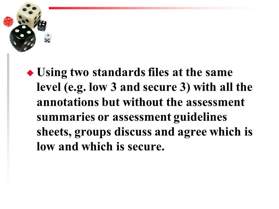 Using two standards files at the same level (e. g
