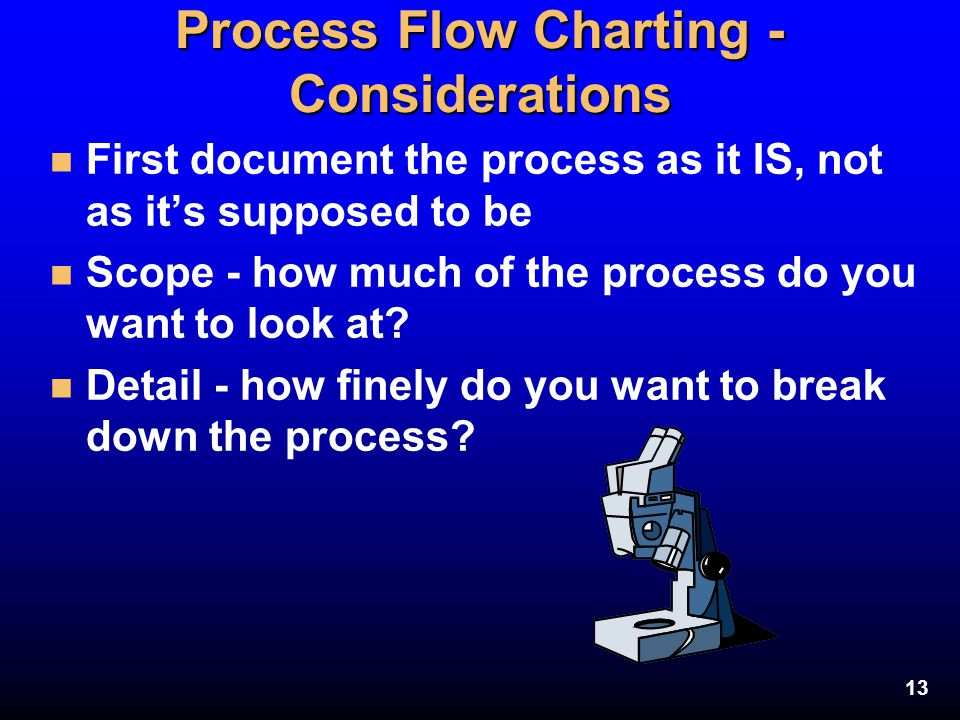 Process Flow Charting - Considerations