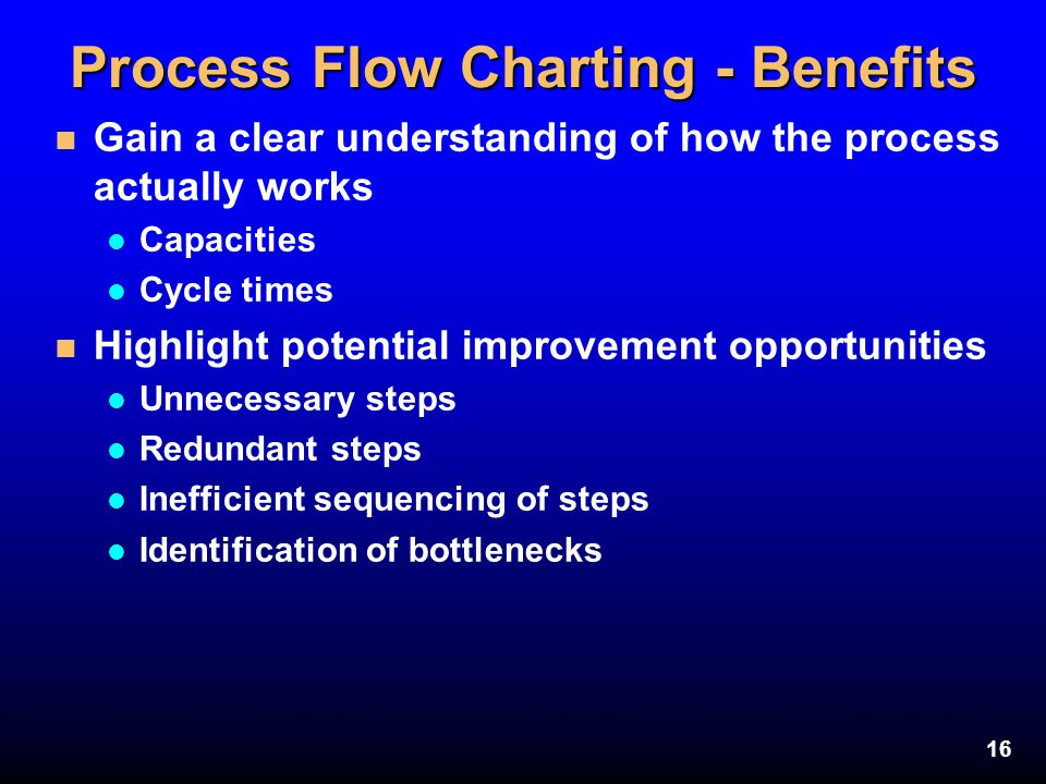Process Flow Charting - Benefits