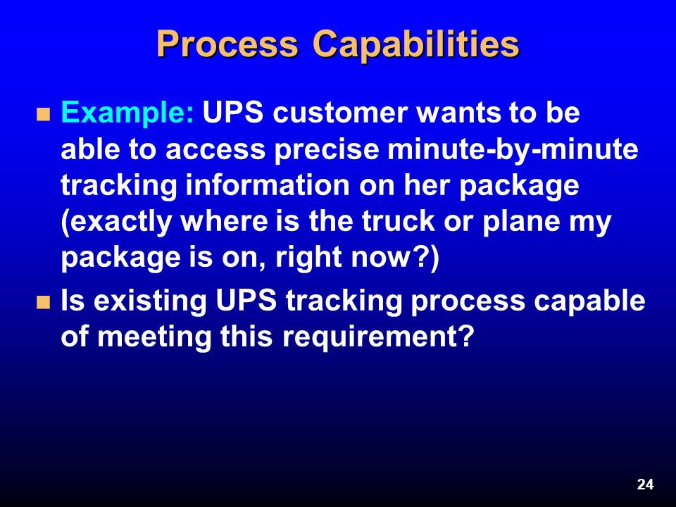 Process Capabilities