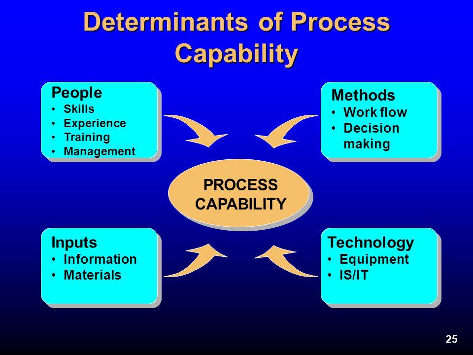 Determinants of Process Capability