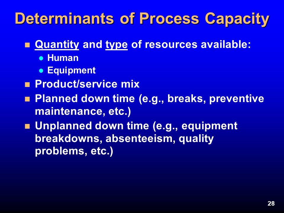 Determinants of Process Capacity