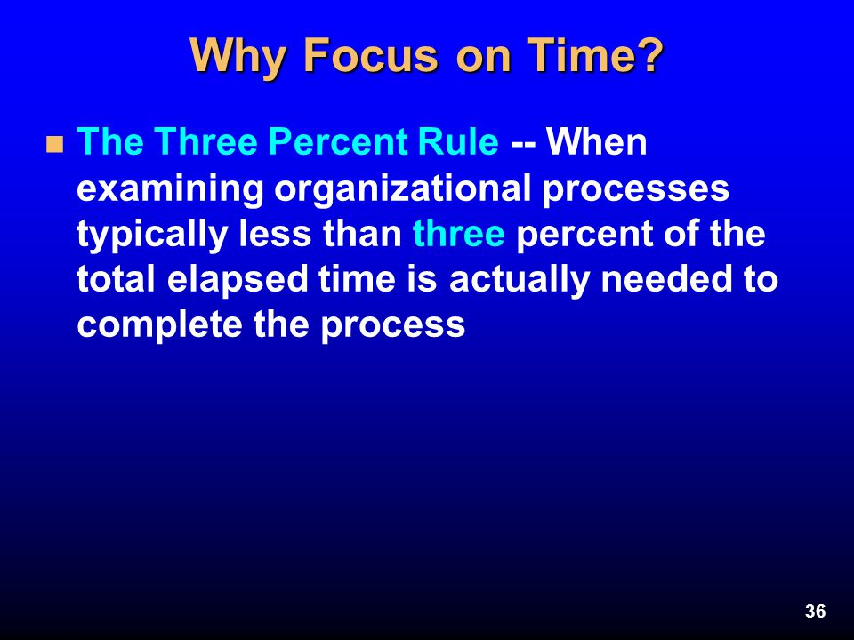 Why Focus on Time