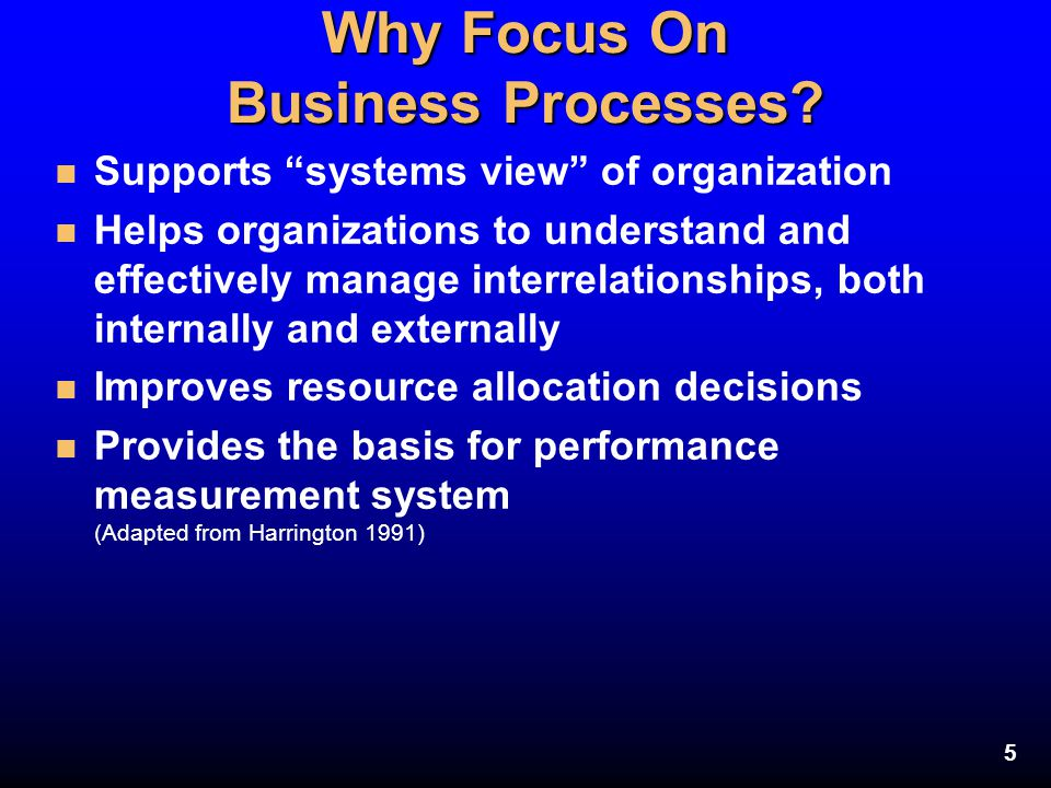 Why Focus On Business Processes