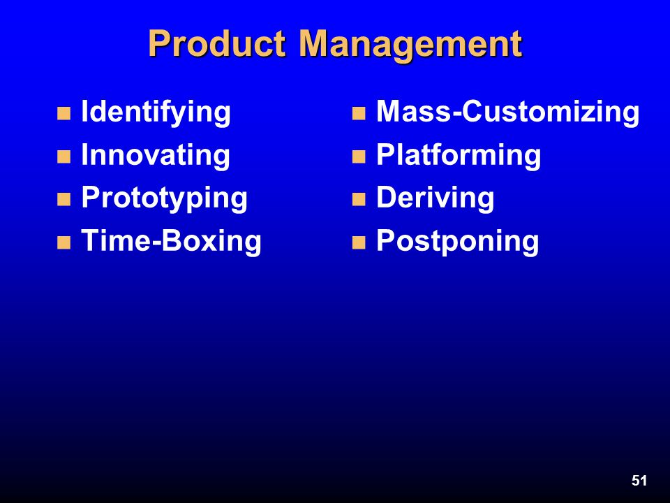 Product Management Identifying Innovating Prototyping Time-Boxing