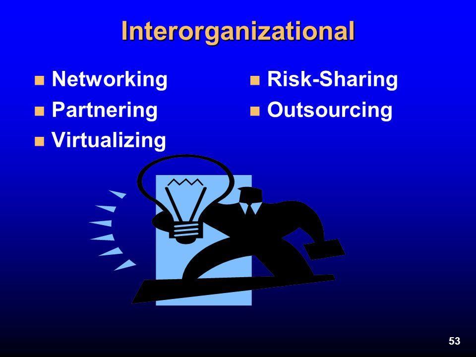 Interorganizational Networking Partnering Virtualizing Risk-Sharing