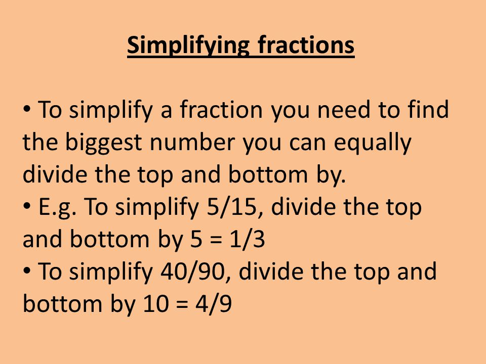 how to know what fraction is bigger