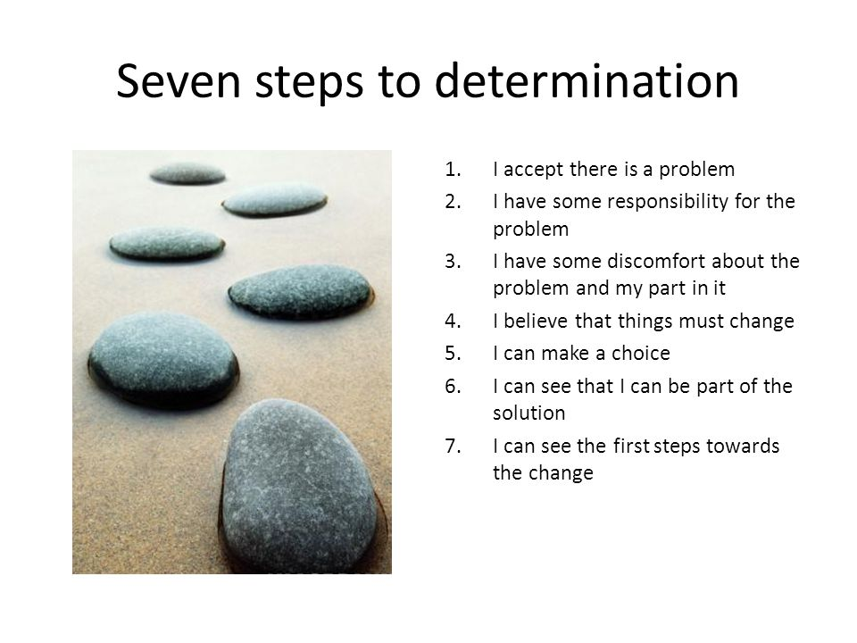 Seven steps to determination
