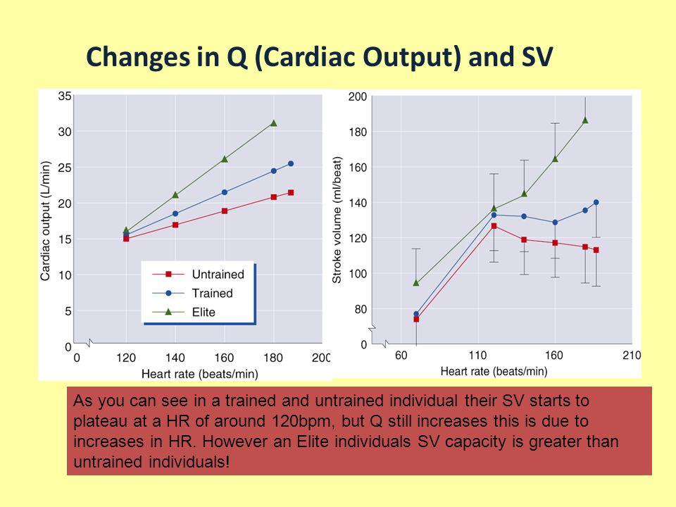 Changes in Q (Cardiac Output) and SV