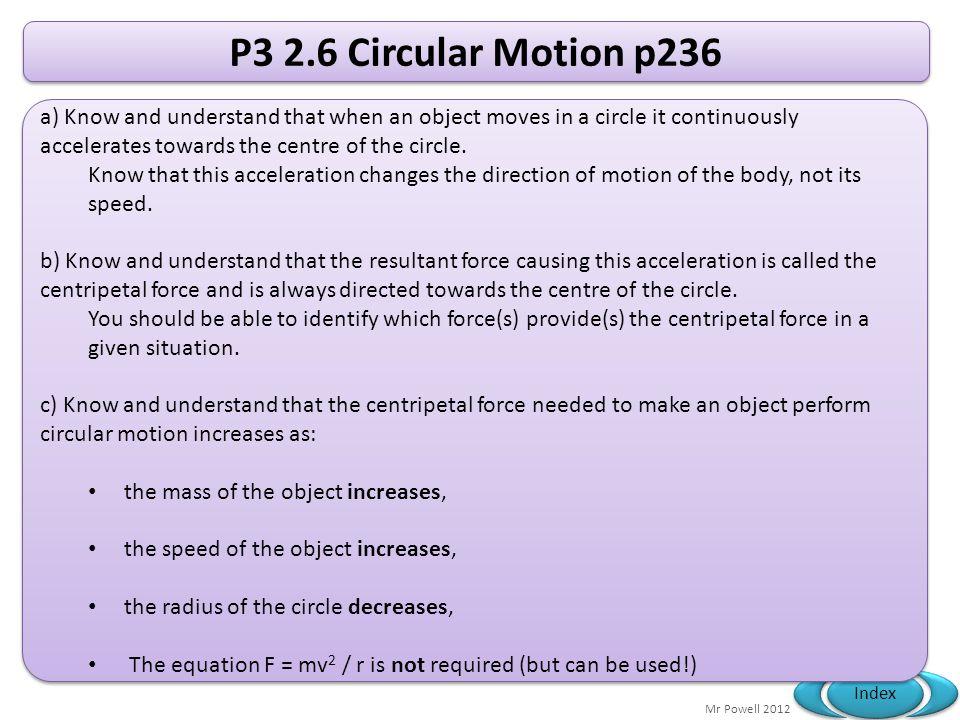 P3 2.6 Circular Motion p236