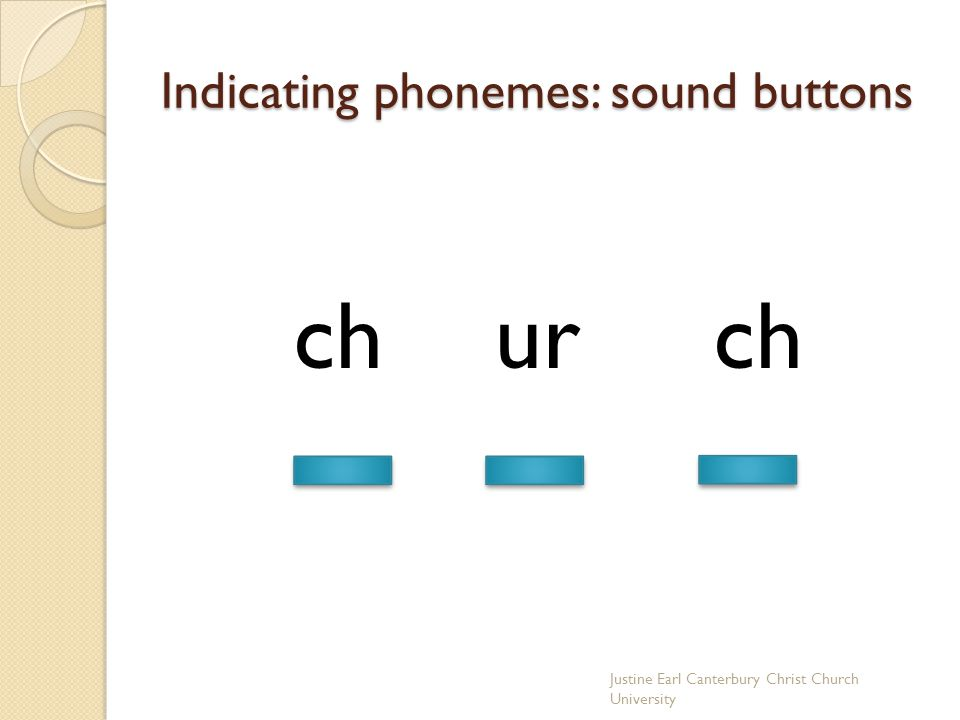 Indicating phonemes: sound buttons