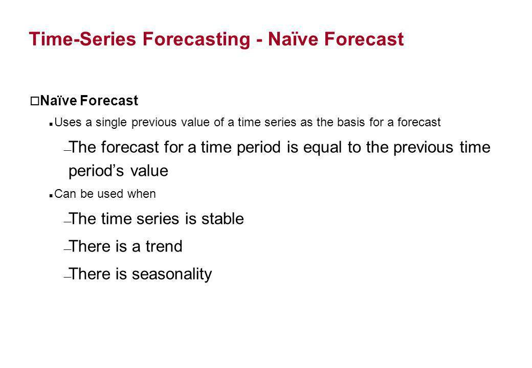 Time-Series Forecasting - Naïve Forecast