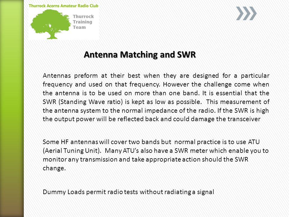 Antenna Matching and SWR