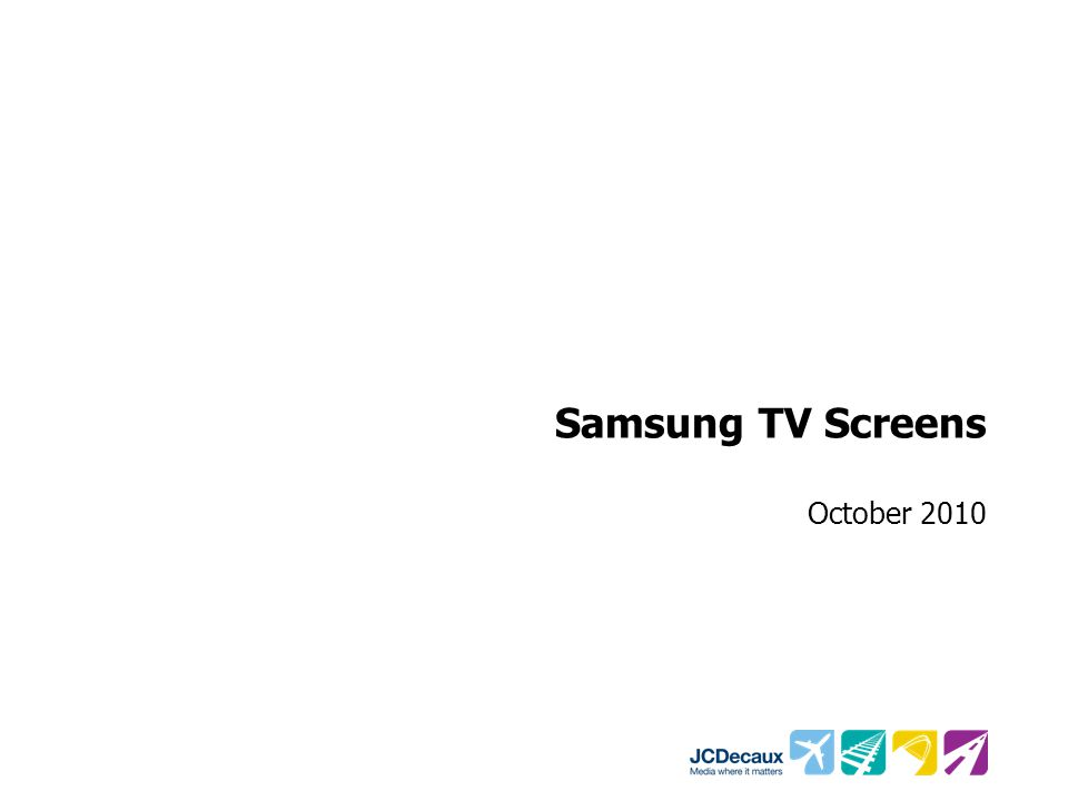 Samsung TV Screens October 2010