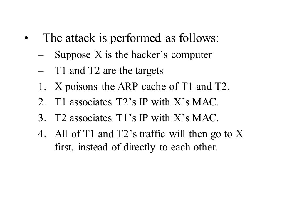 The attack is performed as follows: