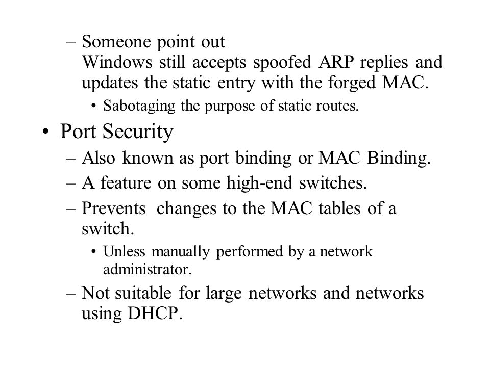 Someone point out Windows still accepts spoofed ARP replies and updates the static entry with the forged MAC.