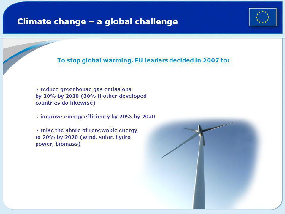 Climate change – a global challenge