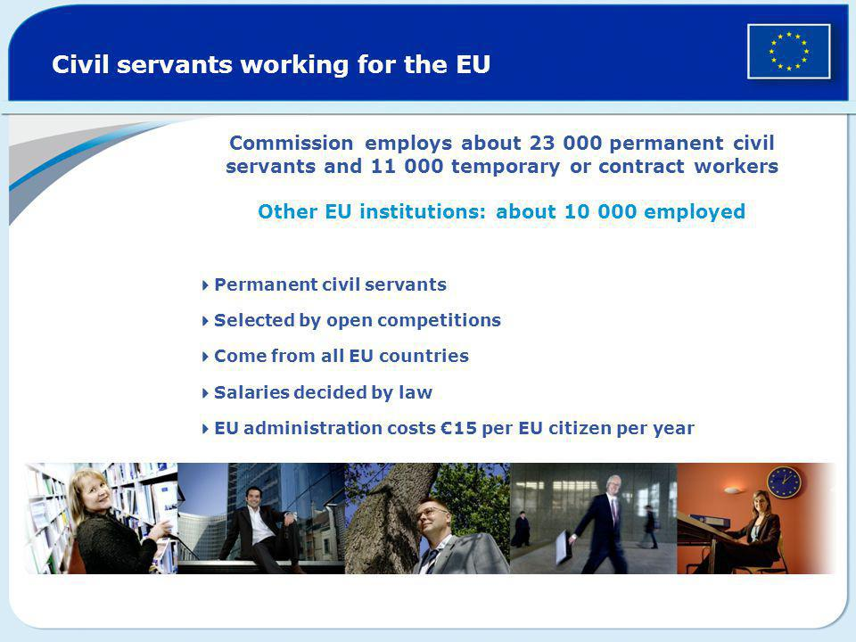 Other EU institutions: about 10 000 employed