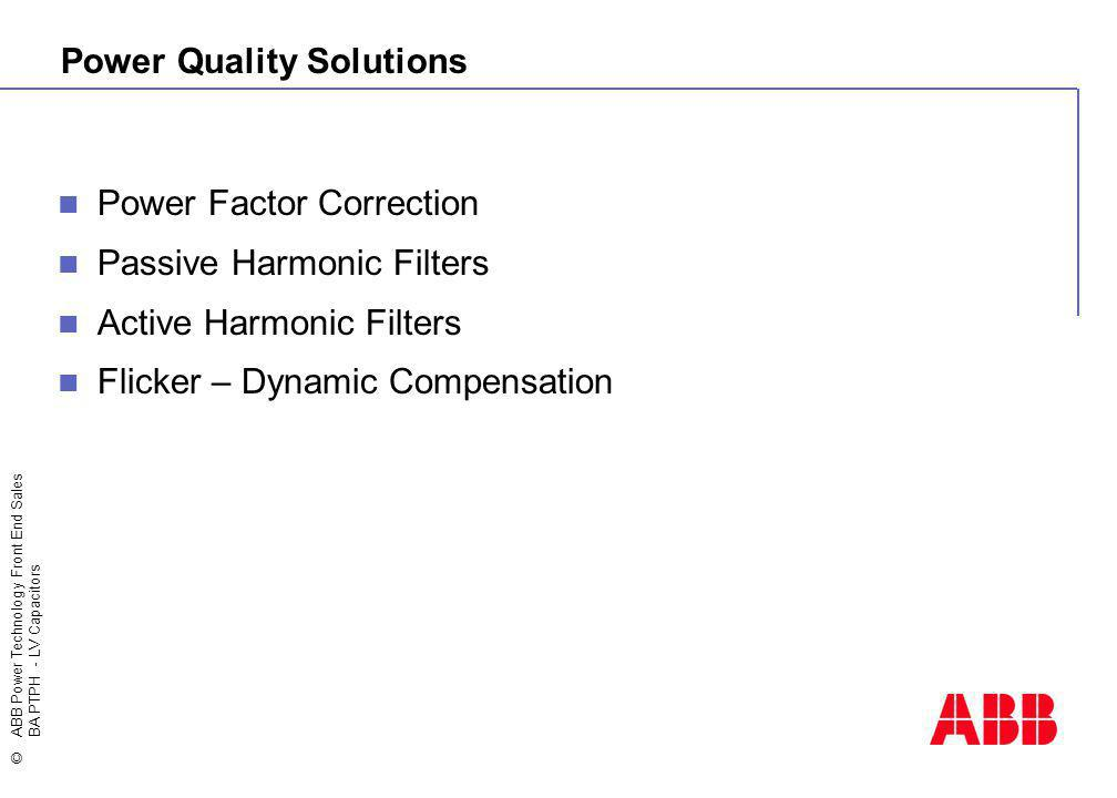 Power Quality Solutions