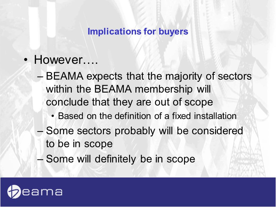 Implications for buyers