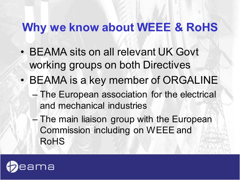 Why we know about WEEE & RoHS