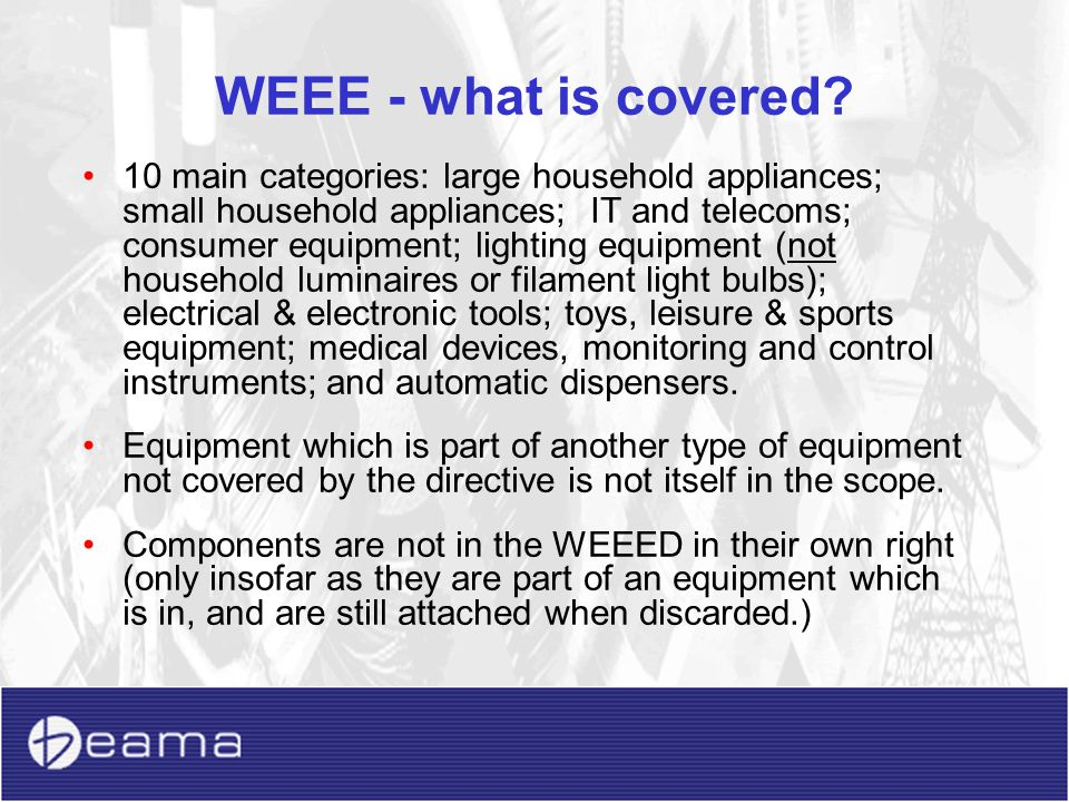 WEEE - what is covered