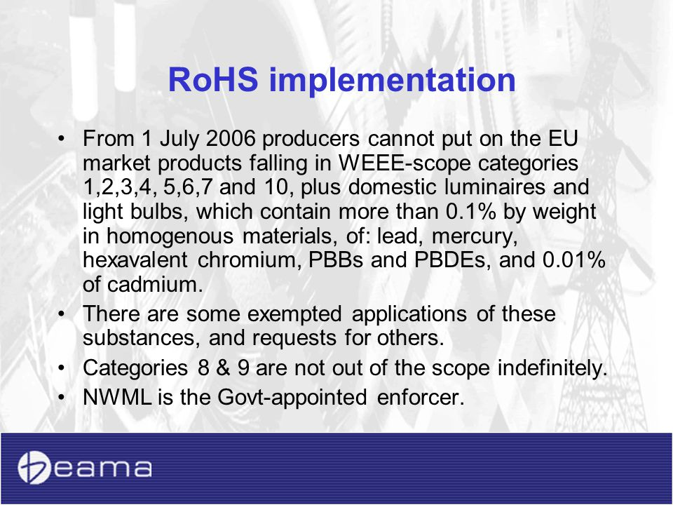 RoHS implementation