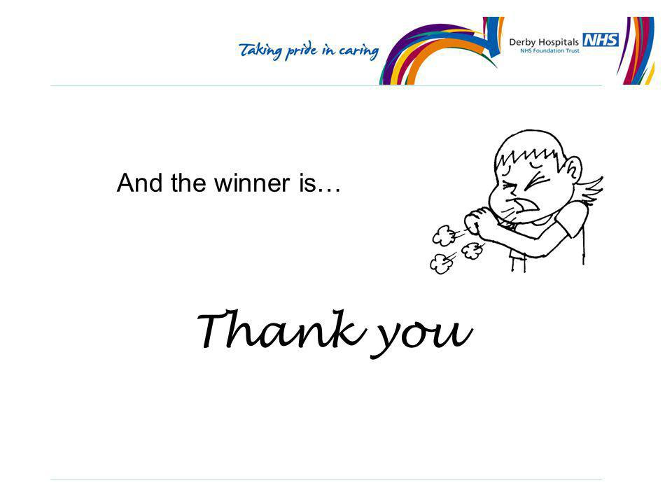And the winner is… Thank you