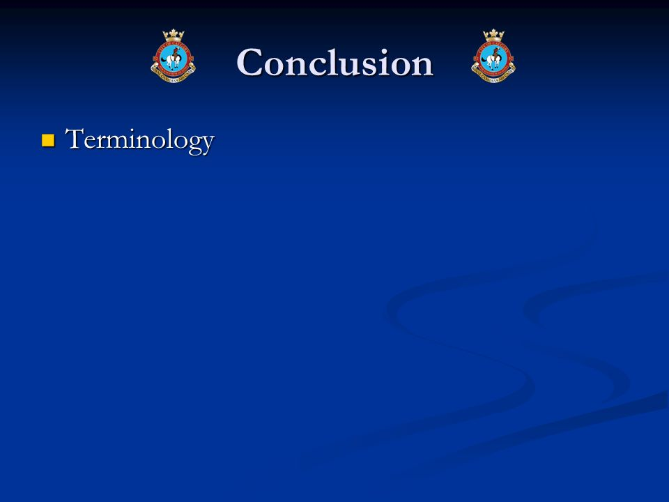 Conclusion Terminology
