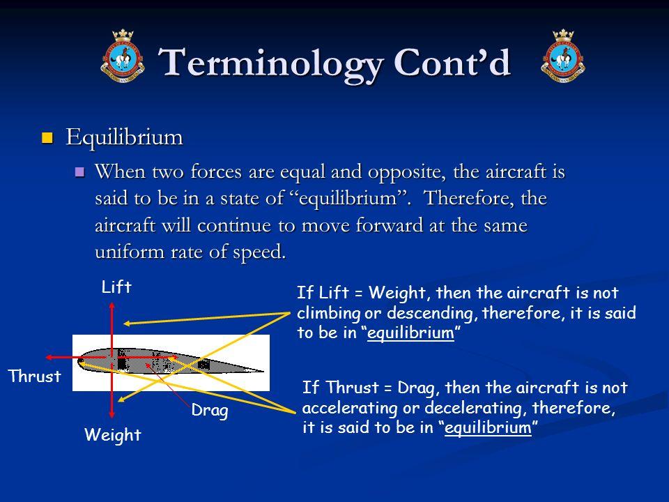 Terminology Cont'd Equilibrium