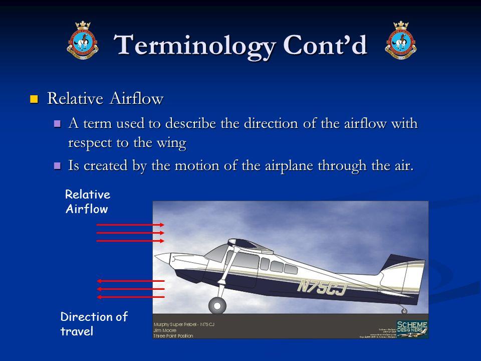 Terminology Cont'd Relative Airflow