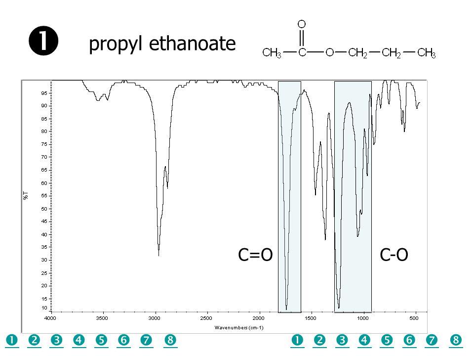  propyl ethanoate C=O C-O                
