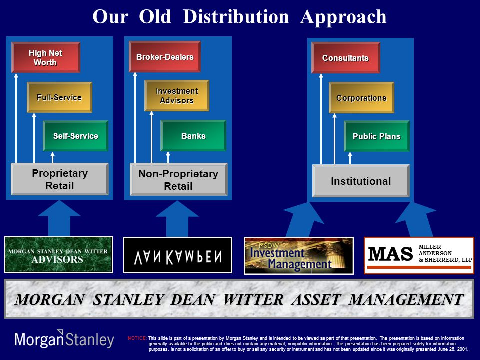 Our Old Distribution Approach
